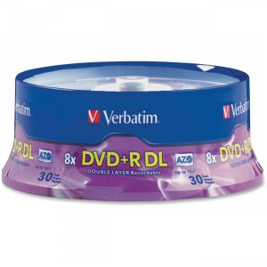 Verbatim 96542 Double Layer DVD+R DL 8.5GB 8x 30pk Spindle VER96542