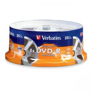 Verbatim 94866 DigitalMovie DVD-R 4.7GB 8x 25pk Spindle