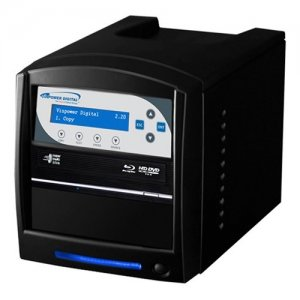 Vinpower Digital SHARKBLU-S1T-XL-BK SharkBlu SATA BDXL Blu-ray/DVD/CD Tower Duplicator