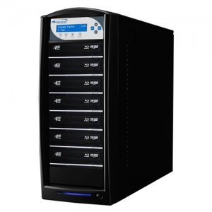 Vinpower Digital SHARKBLU-S7T-XL-BK SharkBlu SATA BDXL Blu-ray/DVD/CD Tower Duplicator