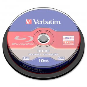 Verbatim 43694 BD-RE SL 25GB 2X 10 PK SP
