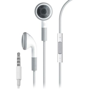 4XEM 4XEARPHONESWH Premium Series Apple Type Earphones With Controller For iPhone/iPod/iPad