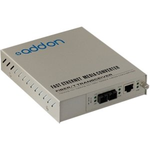 AddOn ADD-MCC1GSM20-SK 1000Base-TX to 1000Base-LX SC SMF 1310nm 20km Standalone Kit