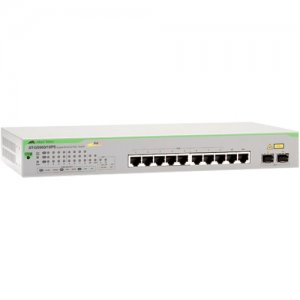 Allied Telesis AT-GS950/10PS-10 10-Port 10/100/1000T WebSmart Switch with 2 SFP Combo Ports and PoE