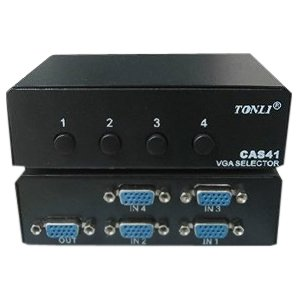 4XEM 4XVGASL2503 4-Port VGA/SVGA Manual Switch