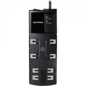CyberPower CSB808 Essential 8-Outlets Surge Suppressor 8FT Cord
