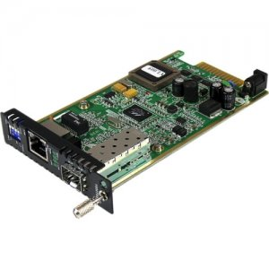StarTech.com ET91000SFP2C Gigabit Ethernet Fiber Media Converter Card Module with Open SFP Slot