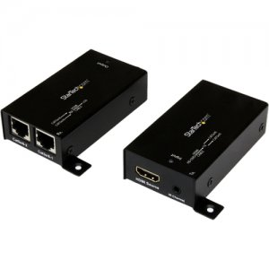 StarTech.com ST121SHD30 HDMI Over Cat5 / Cat6 Extender with IR - 100 ft (30m) Power Free