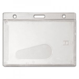 Advantus 76075 Frosted Rigid Badge Holder, 2 1/8 x 3 3/8, Clear, Horizontal, 25/BX AVT76075