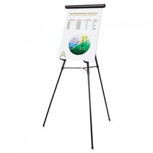 "MasterVision FLX05101MV Telescoping Tripod Display Easel, Adjusts 38"" to 69"" High, Metal, Black BVCFLX05101MV"
