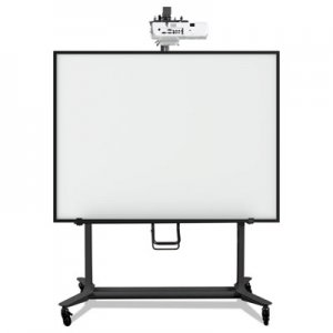 MasterVision BVCBI350420 Interactive Board Mobile Stand With Projector Arm, 76w x 26d x 86h, Black