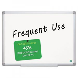 MasterVision BVCMA0507790 Earth Gold Ultra Magnetic Dry Erase Boards, 36 x 48, White, Aluminum Frame