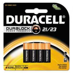Duracell MN21B4PK Coppertop Alkaline Batteries with Duralock Power Preserve Technology,12V, 4/Pk DURMN21B4PK