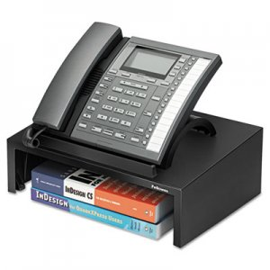 Fellowes 8038601 Designer Suites Telephone Stand, 13 x 9 1/8 x 4 3/8, Black Pearl FEL8038601