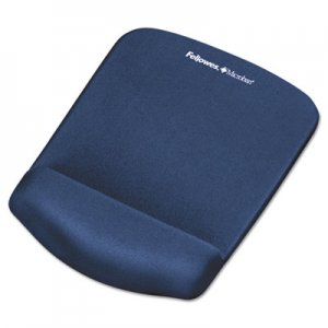 Fellowes 9287301 PlushTouch Mouse Pad with Wrist Rest, Foam, Blue, 7 1/4 x 9-3/8 FEL9287301