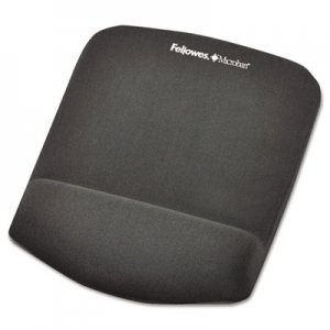 Fellowes 9252201 PlushTouch Mouse Pad with Wrist Rest, Foam, Graphite, 7 1/4 x 9-3/8 FEL9252201