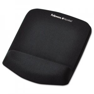 Fellowes 9252001 PlushTouch Mouse Pad with Wrist Rest, Foam, Black, 7 1/4 x 9-3/8 FEL9252001