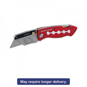 Great Neck 58113 Sheffield Lockback Knife, 1 Utility Blade, Red GNS58113