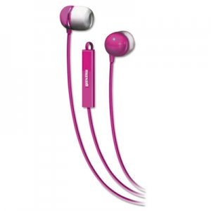 Maxell 190304 In-Ear Buds with Built-in Microphone, Pink MAX190304