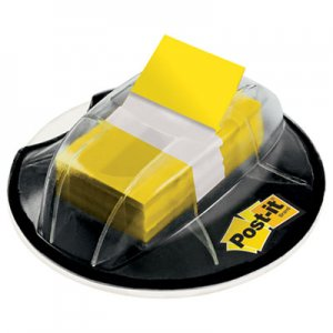 Post-it Flags MMM680HVYW Page Flags in Desk Grip Dispenser, 1 x 1 3/4, Yellow, 200/Dispenser