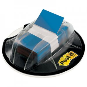 Post-it Flags MMM680HVBE Page Flags in Desk Grip Dispenser, 1 x 1 3/4, Blue, 200/Dispenser