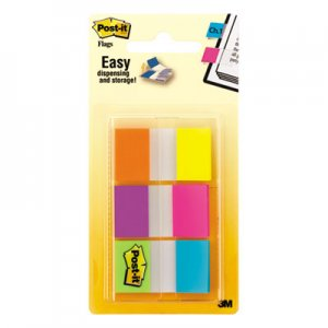 Post-it Flags MMM680EGALT Page Flags in Portable Dispenser, Assorted Brights, 60 Flags/Pack