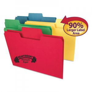 "Smead SMD10410 SuperTab Heavyweight Folder, 1/3 Tab, 3/4"" Exp., Letter, Assorted, 50/BX"