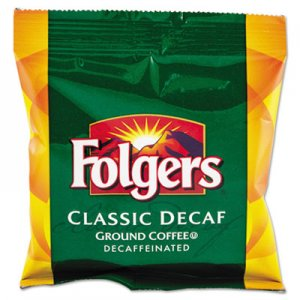 Folgers 2550006433 Ground Coffee, Fraction Pack, Classic Roast Decaf, 1.5oz, 42/Carton FOL06433