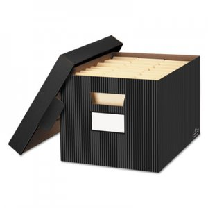 Bankers Box 0029803 STOR/FILE Decorative Storage Box, Letter/Legal, Black/Gray, 4/Carton FEL0029803