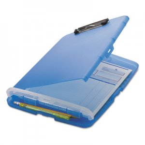 "Officemate OIC83304 Low Profile Storage Clipboard, 1/2"" Capacity, Holds 8 1/2 x 11, Translucent Blue"