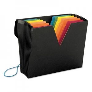 Smead SMD70722 ColorVue Expanding File with SuperTab, 13 Pocket, Letter, Black/Asstd