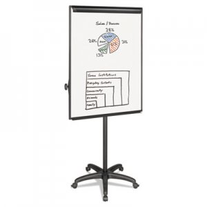 "MasterVision EA4800055 Silver Easy Clean Dry Erase Mobile Presentation Easel, 44"" to 75-1/4"" High BVCEA4800055"