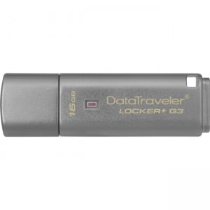 Kingston DTLPG3/16GB 16GB DataTraveler Locker+ G3 USB 3.0 Flash Drive