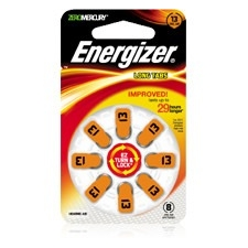 Energizer AZ13DP-24 EZ Turn & Lock Hearing Aid Battery