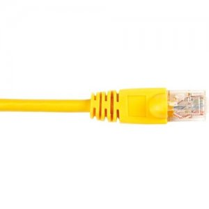 Black Box CAT5EPC-004-YL CAT5e Value Line Patch Cable, Stranded, Yellow, 4-ft. (1.2-m)