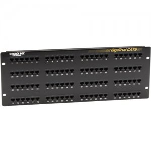 Black Box JPM614A-R7 GigaTrue CAT6 Patch Panel with Universal Wiring, 96-Port, 4U
