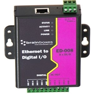 Brainboxes ED-008 Ethernet to 8 Digital IO Lines