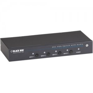 Black Box AVSW-VGA4X1A 4 x 1 VGA Switch With Serial And Audio