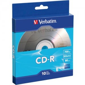 Verbatim 97955 CD-R 80MIN 700MB 10pk Bulk Box