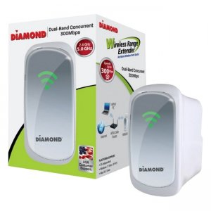 Diamond WR600NSI Dual Band 2.4Ghz/5.0Ghz Wireless 802.11n Range Extender