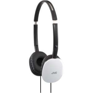 JVC HAS160W FLATS Light Weight Headphones HA-S160W