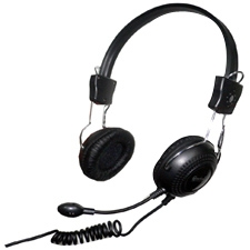 Connectland CL-CM-5023 Computer/Audio Headset with Microphone, Over the Head, On the Ear