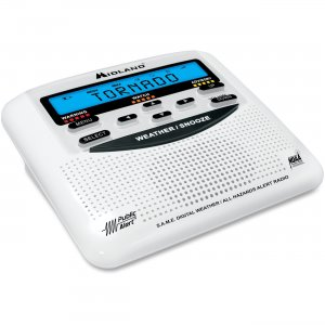 Midland WR120B Desktop Weather Alert Radio WR120