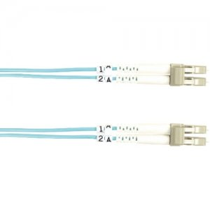 Black Box FO10G-010M-LCLC 10-GbE 50-Micron Multimode Value Line Patch Cable, LC-LC, 10-m (32.8