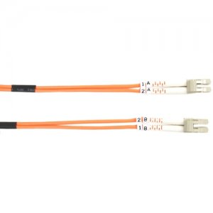 Black Box FO625-002M-LCLC 62.5-Micron Multimode Value Line Patch Cable, LC-LC, 2-m (6.5-ft