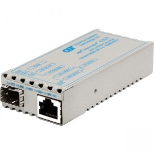 Omnitron Systems 1239-0-3 miConverter GX/T SFP Euro. AC Powered 1239-0-x