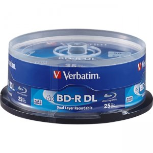 Verbatim 98356 BD-R DL 50GB 6X with Branded Surface - 25pk Spindle