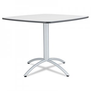 Iceberg ICE65617 Cafe Table, Breakroom Table, 36w x 36d x 30h, Gray Melamine Top, Steel Legs