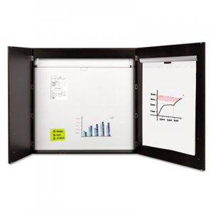 MasterVision BVCCAB01010143 Conference Cabinet, Porcelain Magnetic, Dry Erase, 48 x 48, Ebony