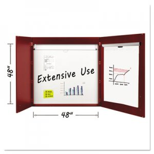 MasterVision BVCCAB01010130 Conference Cabinet, Porcelain Magnetic, Dry Erase, 48 x 48, Cherry